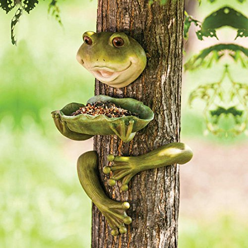 Frog Tree Face and Birdfeeder