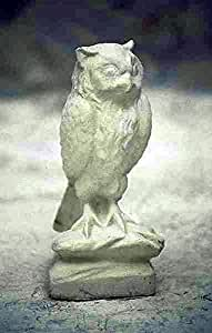 Búho, H 37, Figura de jardín, diseño de piedra, piedra Animales, terracota