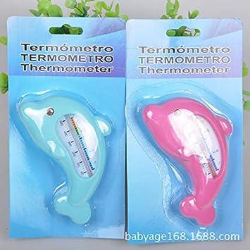 Aiming Los niños Ducha Medida termómetro del Agua de baño del bebé delfín Forma Temperatura bebés del niño de Agua