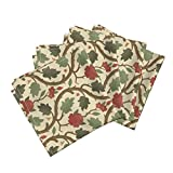 Roostery Islamic Edwardian Arts And Crafts Victorian Renaissance Medieval Gothic Organic Sateen Dinner Napkins Forest Serpentine 1A by Muhlenkott Set of 4 Dinner Napkins