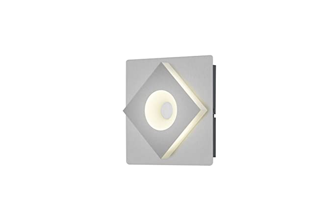 Trio atlanta applique led quadrata con interruttore w nichel