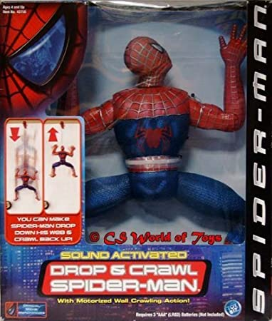 Spider-man - 12 Motorized Sound Activated - Drop & Crawl Spider-man Figure