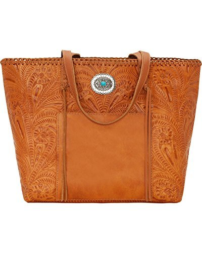 (American West Women's Santa Barbara Large Shopper Tote Tan One Size )