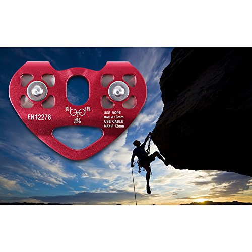 Zipline Cable Trolley Pulley Outdoor Rock Ice Climbing Rescue Aluminum Alloy Speed Pulley
