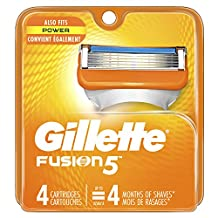 Gillette Fusion Power Men's Razor Blade Refills 4 Count