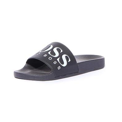 06c2b26c7 Amazon.com: Hugo Boss BOSS Green Men's Solar Slide Sandal Solid Black, 6 M  US-39 EU: Shoes