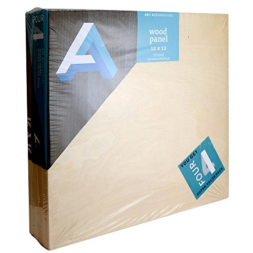 Art Alternatives Wood Panel Super Value 12x12 Pack of 4 by Art Alternatives
