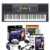 Yamaha PSRE343 61-Key Portable Keyboard + Yamaha SKB2 Survival Kit