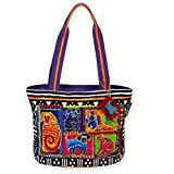 Laurel Burch Dog Tails Patchwork Medium Tote 5210 (Multi)