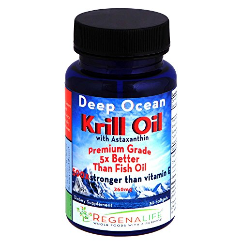 Deep Ocean Pure Antarctic Krill Oil w/Astaxanthin (500mg SoftGels) for maximum absorption. Great for the cardiovascular system and joints.