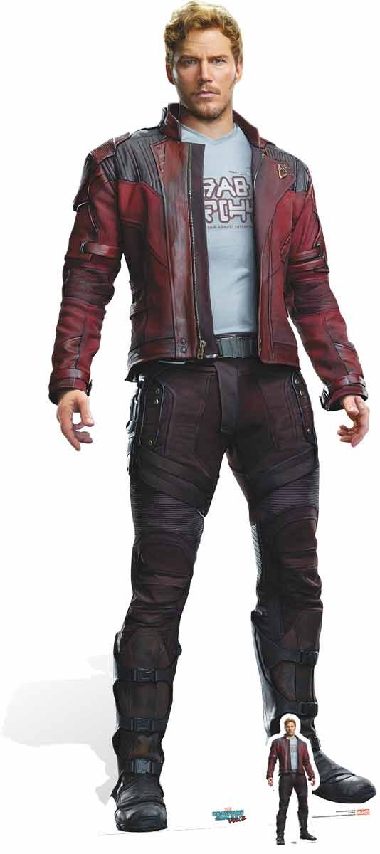 Star Cutouts Official Marvel Avengers Movie Lifesize Cardboard Cut Out of Peter Quill / Star Lord (Chris Pratt) 185cm tall 72cm wide STAR CUTOUTS LTD SC1014