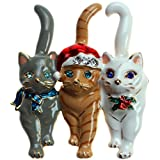 Lova Jewelry Christmas Triple Cat Pin