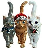 Lova Jewelry Christmas Triple Cat Pin