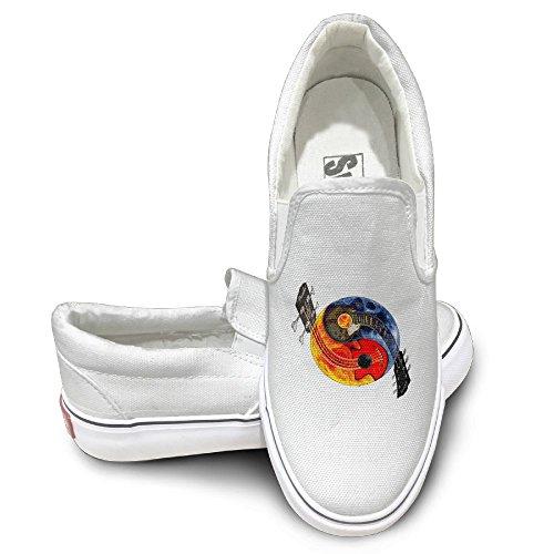 SH-rong Guitar Yin Yang Unisex Canvas Sneakers Shoes Size 41 - Hendrix Sunglasses