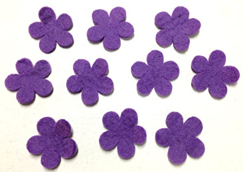 Yarn Place Felt Wool Felted Die Cut Flowers 10 Pieces Color: Lavender Size: 60mm x 60mm
