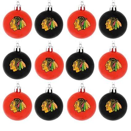 1e2289da9b522 Amazon.com  NHL Ball Ornament (Set of 12) NHL Team  Chicago ...