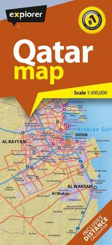 Qatar Road Map: Scale 1:300.000 (Explorer): Amazon.de ...