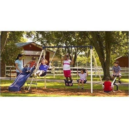 Flexible Flyer Triple Fun II Metal Swing Set by Flexible Flyer