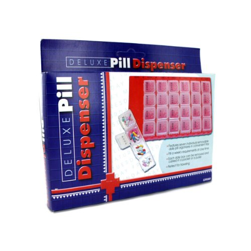 Deluxe pill dispenser-Package Quantity,144 by bulk buys