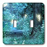 fairy pics - 3dRose LLC lsp_17943_2 Fairy Night Magic Double Toggle Switch