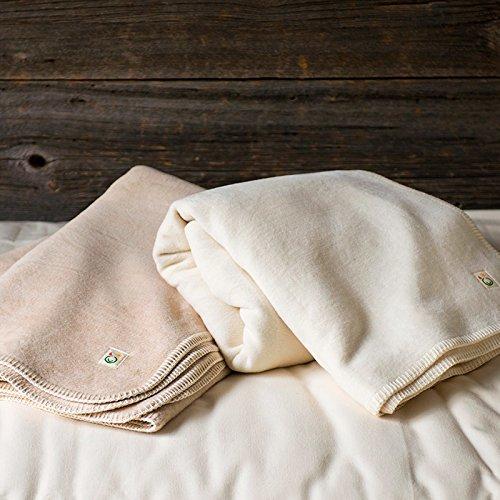 メイドインアース オーガニックコットン綿毛布シングル(きなり) B075RVFN6Y