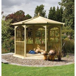 Grange Fencing octogonal cenador de jardín vestido B.: Amazon.es ...