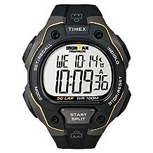 Timex Ironman 50-Lap Watch, Black/Yellow, One-Size