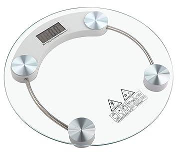Báscula electrónica digital de cristal, para personas de hasta 150 kg: Amazon.es: Hogar