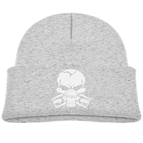 Claw Marks 392 Piston Gas Mask Skull Kids Knitted Beanies Hat,Head Winter Hat,Knitted Skull Cap for Boys Girls Gray