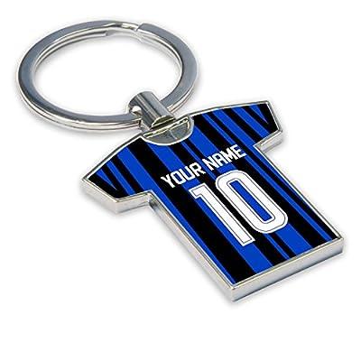UKSoccershop Personalised Inter Milan Key Ring