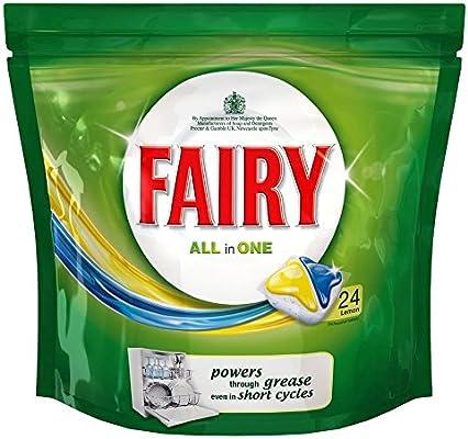 Fairy Todo En 1 Pastillas De Lavavajillas Limón (24) (Paquete de 2 ...