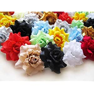 "(100) Assorted Silk Roses Flower Head - 1.75"" - Artificial Flowers Heads Fabric Floral Supplies Wholesale Lot for Wedding Flowers Accessories Make Bridal Hair Clips Headbands Dress 4"