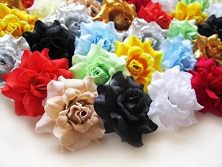 (24) Assorted Roses Silk Flower Head - 1.75