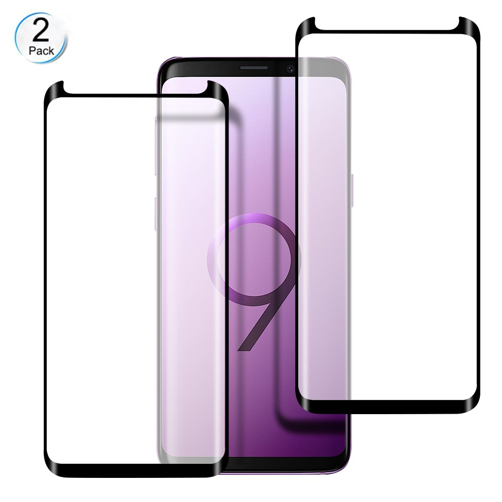 Galaxy S9 Plus Screen Protector, WengTech 3D Curved 9H Hardness Bubble Free Case Friendly Ultra-clear Tempered Glass Screen Protector Film for Samsung Galaxy S9 Plus (2 Pack)