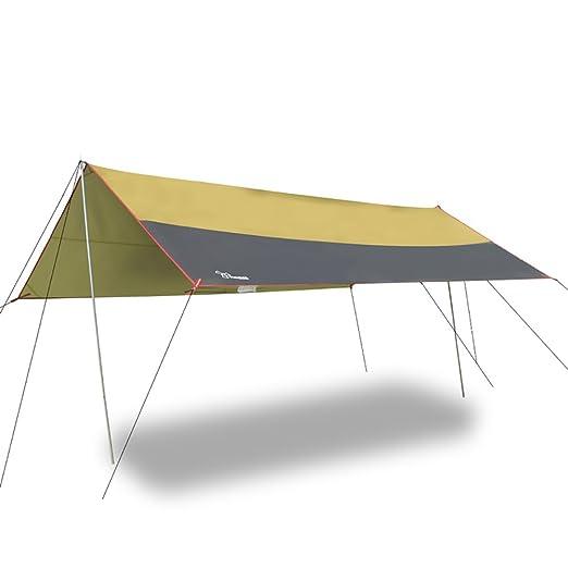 Acampar al aire libre del toldo de la lluvia, protección ULTRAVIOLETA, enfriamiento, tienda de la pesca El alpinismo puede hacer la estera Picnic Oxford ...