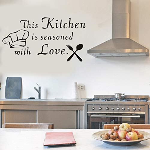 Yttbuy Kitchen Wall Decals Stickers This Is Seasoned With Love Decal For 16 X31 Pricepulse