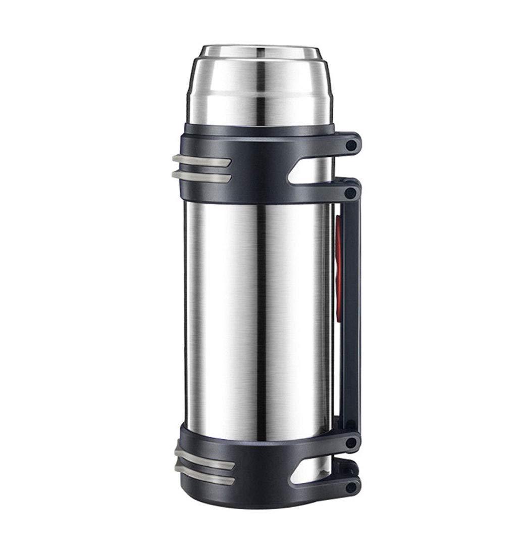 WLHW Trinkflaschen Auto Isolierung Topf, 2L Outdoor Reise Wasserkocher Edelstahl Haushalt Isolierflasche Große Kapazität Tasse