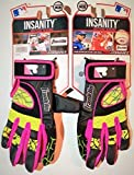 Franklin Insanity Batting Gloves - Black, Red, Green, Purple - Youth XSmall