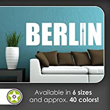 Berlin Wall decals in 6 sizes - Wall Sticker Walltattoo vinyl For Home Living Room House Bedroom Bathroom Kitchen Office decor art style