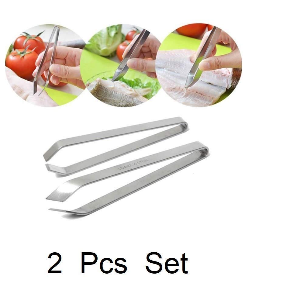 Home Kitchen Tool Puller Fish Bone Tweezers Stainless Steel Remover Portable