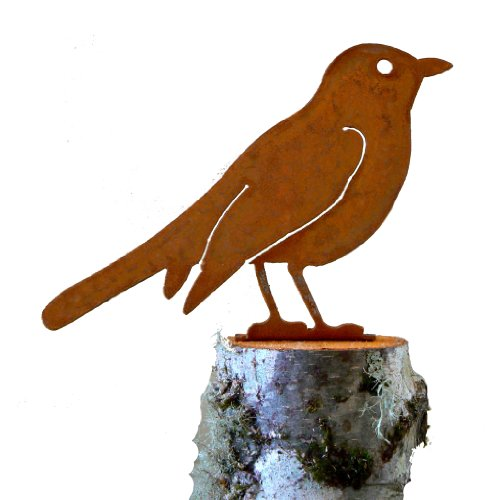 Robin Rusty Garden Sculpture