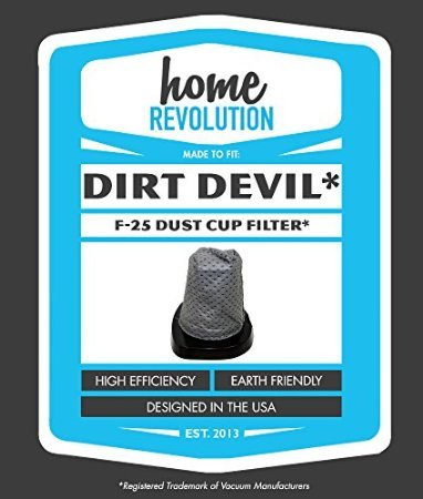 Dirt Devil F25 Home Revolution Brand Dust Cup Filter Replacement, Made to Fit Dirt Devil F25 Versa Power Vacuums...