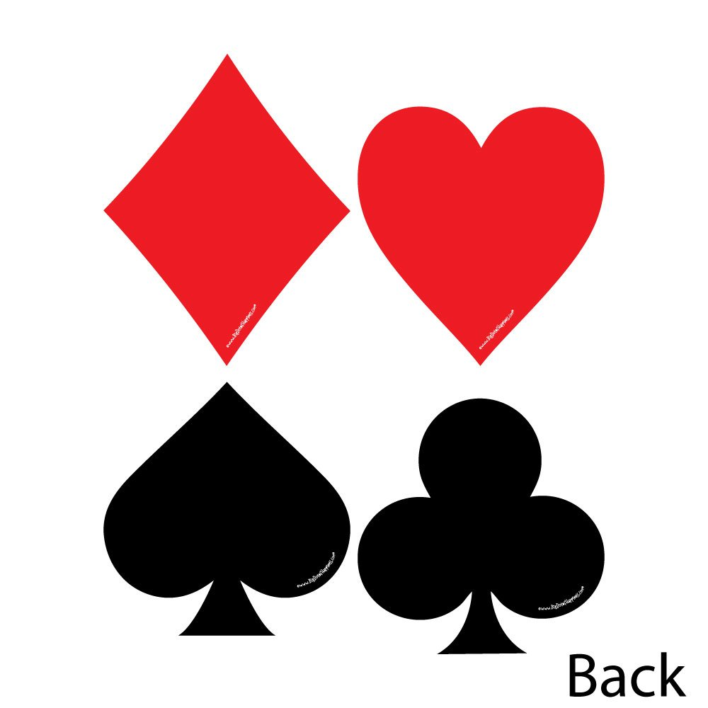 Amazon.com: Las Vegas - Card Suits Decorations DIY Casino Party ...