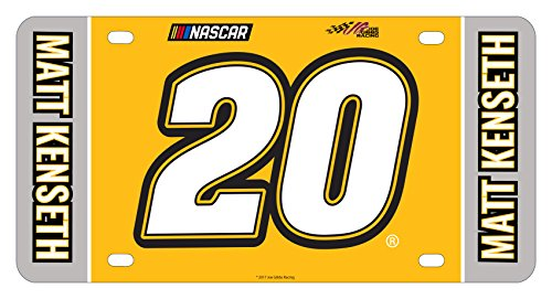 (NASCAR #20 Matt Kenseth Metal License Plate-NASCAR Car)