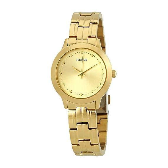 Guess Reloj Analógico para Mujer de Cuarzo con Correa en Acero Inoxidable W0989L2: Amazon.es: Relojes