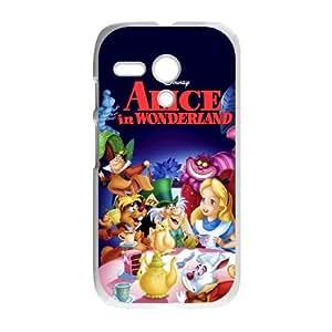 Motorola G Cell Phone Case White Alice in Wonderland Character Alice Bnqk