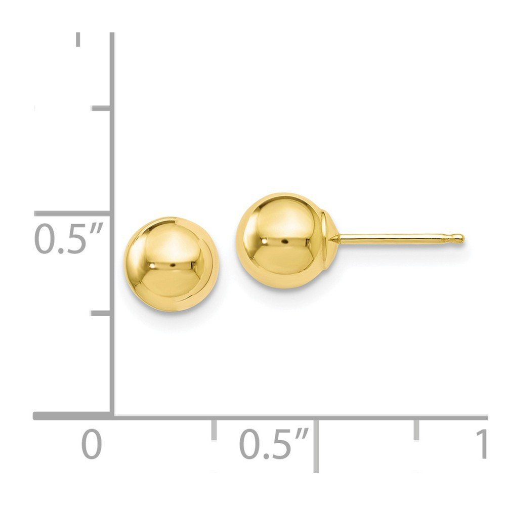 FB Jewels Solid Leslies 10K Yellow Gold Polished Ball Post Earrings