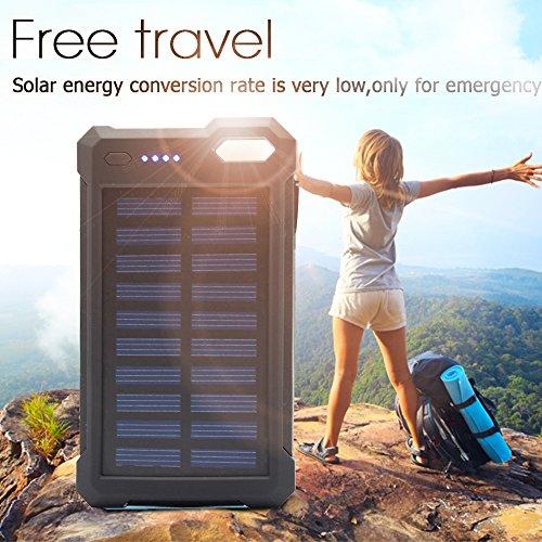 Solar charger solar power bank ibeek portable 10000mah - Porta poster amazon ...