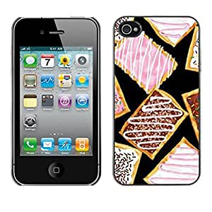 """For Apple iPhone 4 / iPhone 4S / 4S Case , Cookies esmalte rosado dulce postre"""" - Diseño Patrón Teléfono Caso Cubierta Case Bumper Duro Protección Case Cover Funda"""