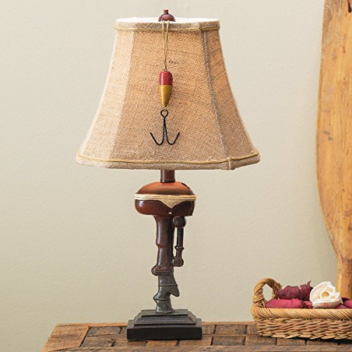 Black Forest Décor Outboard Accent Rustic Lamp - Lodge Fixtures